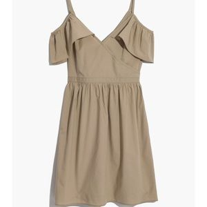Madewell khaki cold shoulder dress size 8